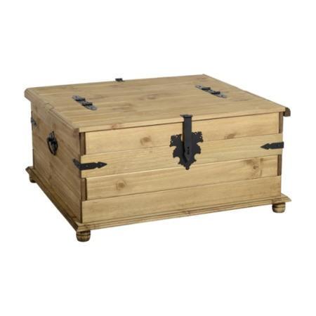Seconique original corona pine double storage chest for Furniture 123