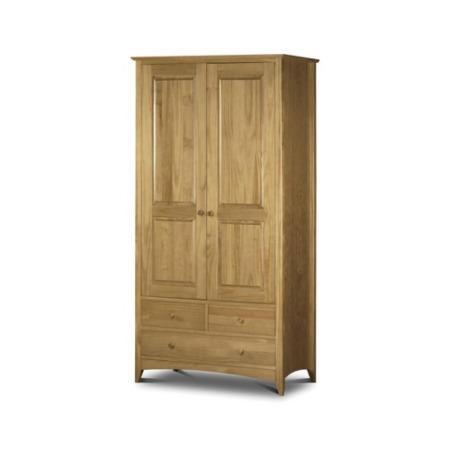 Julian bowen kendal pine combination wardrobe furniture123 for Furniture 123 wardrobes