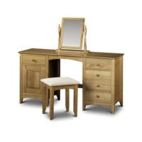 Julian Bowen Kendal Pine Twin Pedestal Dressing Table