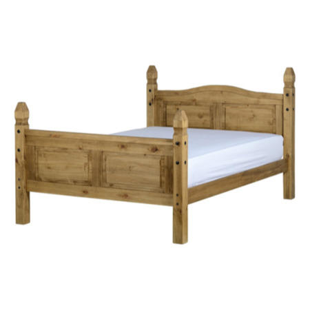How Big Is A King Size Bed.Seconique Corona King Size Bed Frame In Distressed Waxed Pine