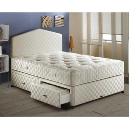 Airsprung ortho pocket 1200 divan and mattress set for Single divan base and mattress