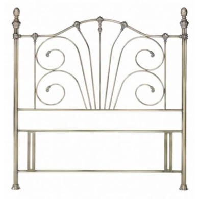 Bentley Designs Rebecca Headboard - double in antique brass