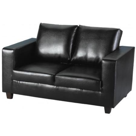 Seconique tempo 2 seater sofa in black black furniture123 for Furniture 123
