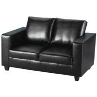 Seconique Tempo 2 Seater Sofa in Black - black
