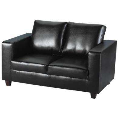 Seconique Tempo 2 Seater Sofa in Black - black