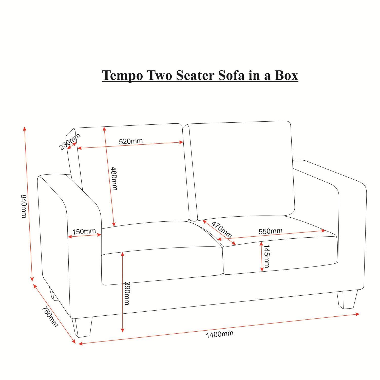 Seconique Tempo 2 Seater Sofa In Black Furniture123