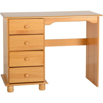 Seconique Sol Pine Single Pedestal Dressing Table - dressing table only