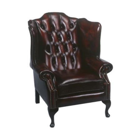 Forest Sofa Regency Leather Wing Armchair Antique Red