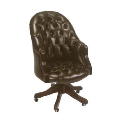 Forest sofa executive leather swivel chair antique brown for Furniture 123