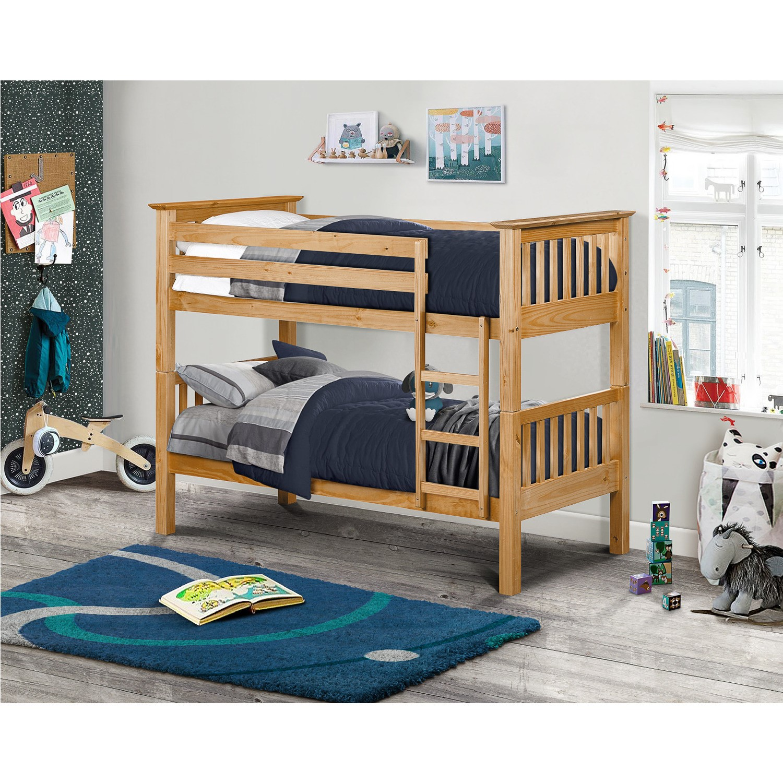 Julian Bowen Barcelona Solid Pine Bunk Bed Furniture123