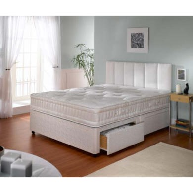 Dreamworks beds tranquility firm 1000 divan and mattress for Double divan bed with firm mattress