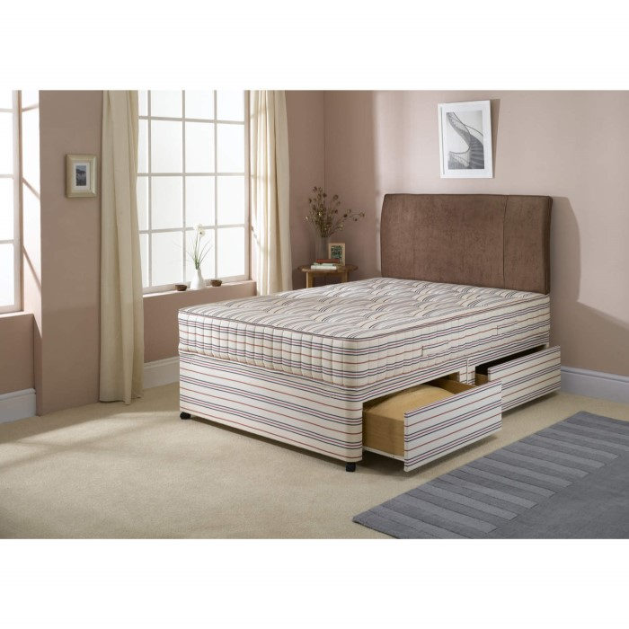 Dreamworks beds ascot divan and mattress double with for Divan base no mattress