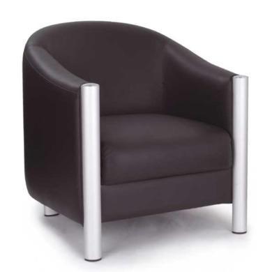 Eliza Tinsley Drake Leather Reception Tub Chair