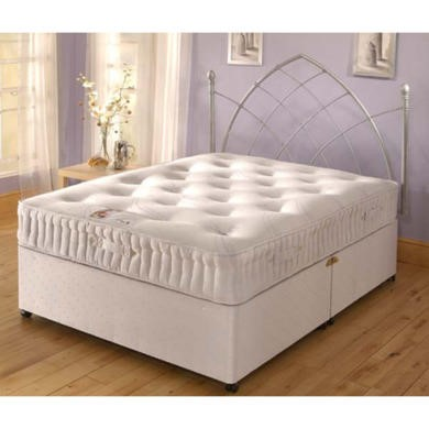 Kozee sleep stress free tufted divan set small single for Small single divan bed with drawers