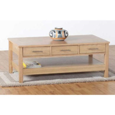 Seconique Oakleigh 3 Drawer Coffee Table