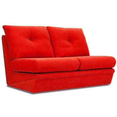 Buoyant Upholstery Vogue 2 Seater Sofa Bed - gizmo red
