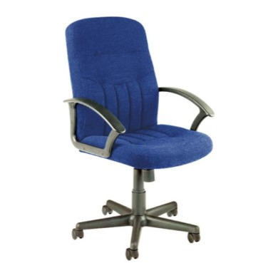 Dams Furniture Cavalier Fabric Office Chair - blue