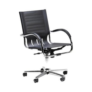 Dams Furniture Chromus Managers Leather Faced Chair in Black