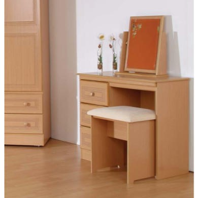 Welcome Furniture Eske Single Pedestal Dressing Table in Beech
