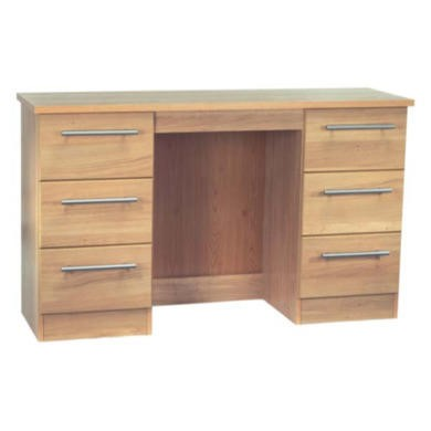 Welcome Furniture Loxley 6 Drawer Dressing Table in Oak