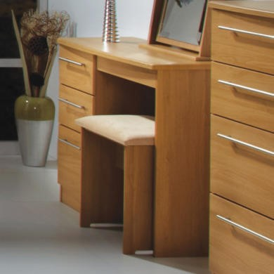 Welcome Furniture Loxley 3 Drawer Dressing Table in Oak
