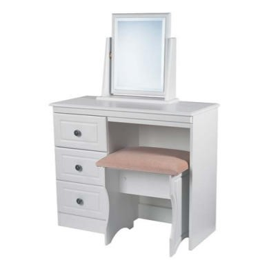 Welcome Furniture Amelie White 3 Drawer Dressing Table