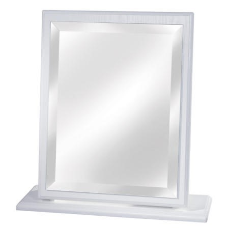 Welcome Furniture Pembroke White Single Vanity Mirror