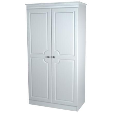 Welcome furniture pembroke white 2 door wardrobe for Furniture 123 wardrobes