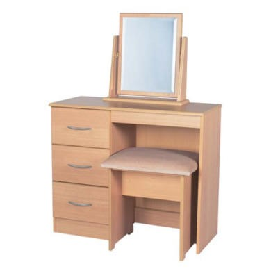 Welcome Furniture Stratford 3 Drawer Dressing Table in Beech