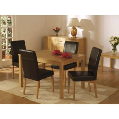 Seconique Oakmere Dining Set in Brown