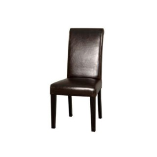tina leather dining chairs in dark brown pair furniture123