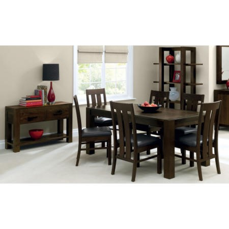 Bentley Designs Lyon Walnut 6 Seater Dining Table
