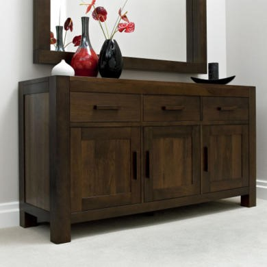 Bentley Designs Lyon Walnut Large Sideboard