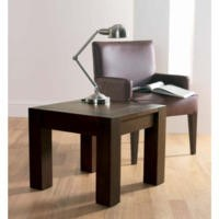 Bentley Designs Lyon Walnut Square Lamp Table