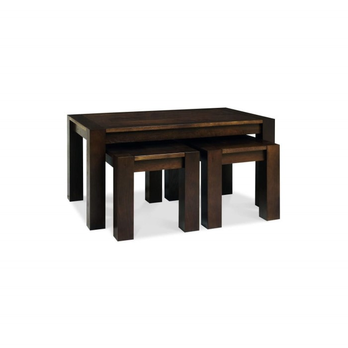 Bentley Designs Lyon Walnut Nest Of Coffee Tables Furniture123