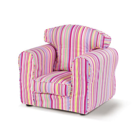 6d282c0c6ce2 Just4Kidz Childrens Loose Cover Armchair in Candy Stripe