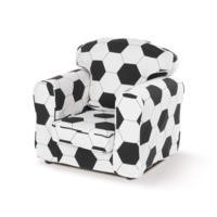 Just4Kidz Childrens Loose Cover Armchair - Football Print