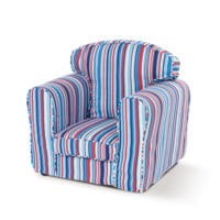 Just4Kidz Loose Cover Childrens Armchair - Sky Stripe