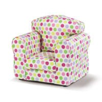 Just4Kidz Childrens Loose Cover Armchair - Candy Print