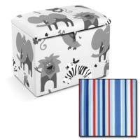 Just4Kidz Toy Box in Sky Stripe