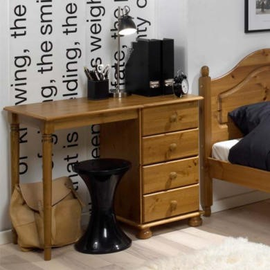 Steens Richmond Pine Single Pedestal Dressing Table