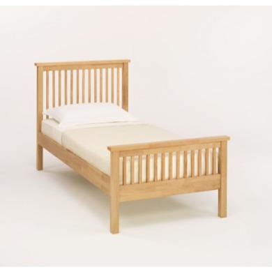 bentley designs atlantis pale oak bed single furniture123. Black Bedroom Furniture Sets. Home Design Ideas