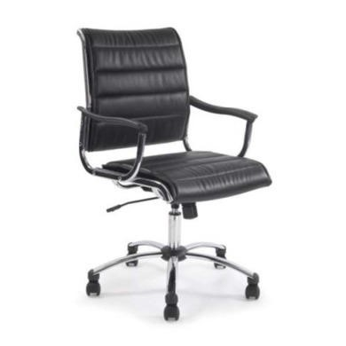 Eliza Tinsley Columbus Chrome Managers Chair in Black