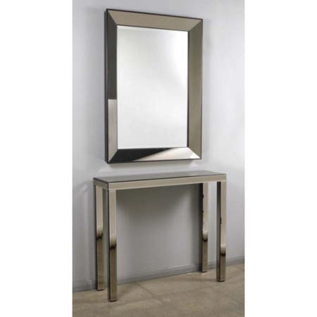 Morris Mirrors Pearl Mirrored Console Table And Mirror