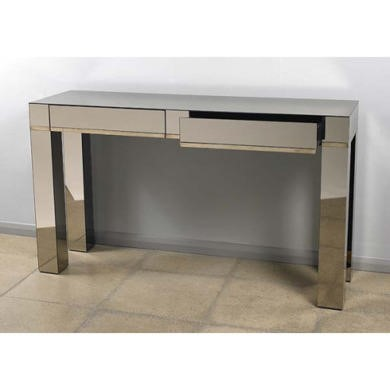 Morris Mirrors Pearl Glass 2 Drawer Console Table
