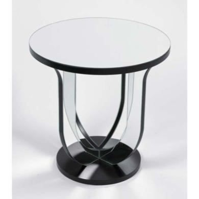 Morris Mirrors Art Mirrored Lamp Table