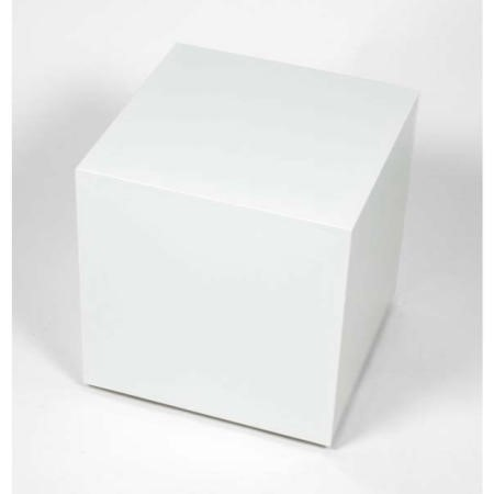 Morris Mirrors Coco Glass Cube Side Table In White