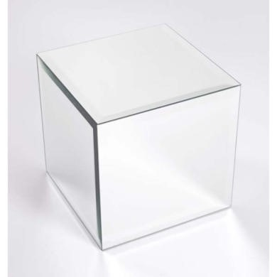Morris Mirrors Coco Glass Cube in Silver