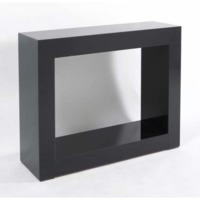 Morris Mirrors Quad High Gloss Console Table in Black