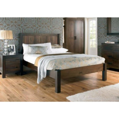 bentley designs lyon walnut double bed frame